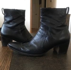YSL Johnny Boot Black Leather